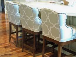 Small Picture Lee Industries counter stools upholstered in Sunbrella fabric