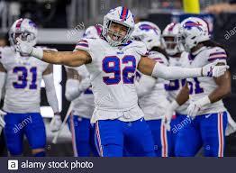 January 4, 2020: Buffalo Bills defensive end Darryl Johnson (92) celebrates  during the 3rd quarter of