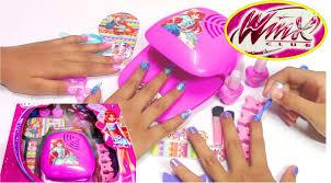 Winx Fairy Fashion Set - Do-It-Yourself Nail Art Design - YouTube