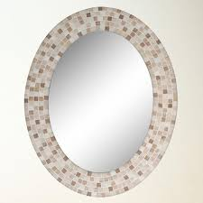 Long oval mirror bathroom mirrors on oval mirror mosaic oval