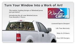 Rear Window Graphics | Window Canvas Rear Window Graphics | TintZoom.com