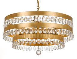 crystorama perla 6 light antique gold chandelier