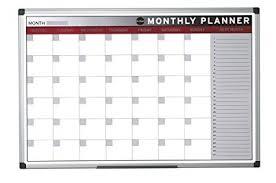 Bi Office Month Planner Magnetic Aluminium Frame 90 X 60 Cm