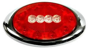 Combination Light Amazon Com Kaper Ii L15 0103 Red Chrome Dot Stop Turn