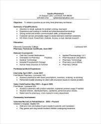 Pharmacy Internship Resumes D Pharmacy Resume Format 2 Resume Format Pinterest Resume