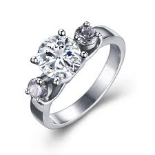 round cut gemstone silver anium steel women s enement ring joancee jewelry
