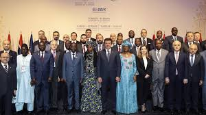 ministers and government officials pose for a family photo during the opening ceremony of turkey