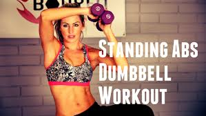 Image result for ab muscle building exercises for women using weights