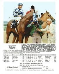 Secretariat And The Chart Of The Belmont Stakes Horses