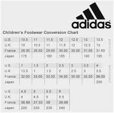 Adidas Shoe Size Chart Junior Sock Shoe Conversion Online Charts Collection