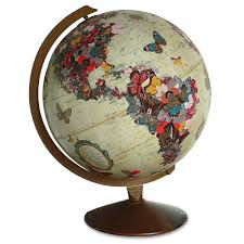 World Map Home Decor Butterfly Globe Sculpture Geography World Map Wendy Gold