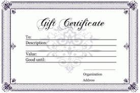 Blank Gift Certificate Template Free Download Aesthetecurator Com
