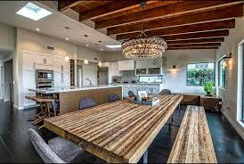 modern mansion dining room. Modern House Dining Room With Midcentury Wallpaper And Wall Mansion