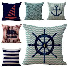 small pillow covers. Exellent Pillow Sailing Boat Anchor Rudder Pillow Case Cushion Cover Linen Cotton Throw  Pillowcases Sofa Bed Covers Drop Shipping Pw442 Pattern Small  For