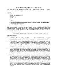 Hunting Lease Agreement Arkansas Hunting Lease Agreement Legal Forms And Business 3