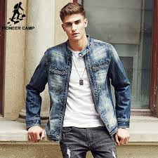 pioneer man clothing. pioneer camp 2017 new arrival denim jacket men fashion brand clothing jeans jackets male spring autumn man