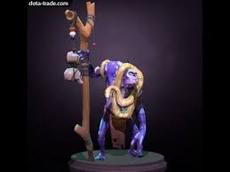 dota 2 witch doctor rattlebite rare snake review youtube