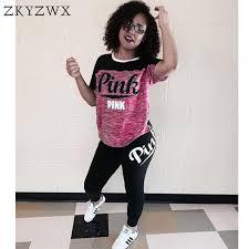 plus size short sets zkyzwx two piece set letter print fitness tracksuit women 2018