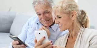 Image result for seniors looking at cell phones