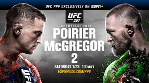 Earlier fights, however, are viewable live on espn, the watchespn app and, for the early prelims, on ufc fight pass. Ufc 257 Poirier Vs Mcgregor 2 Highly Anticipated Rematch Live From Abu Dhabi Saturday On Espn Ppv Prelims On Espn And Espn Deportes Espn Press Room U S