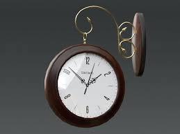 double sided wall clock model blend 1 modern