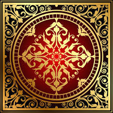 red and gold rug oriental stock vector ilration of material bathroom rugs red and gold rug