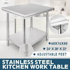 24 x 30 stainless steel work table shelf commercial kitchen restaurant new
