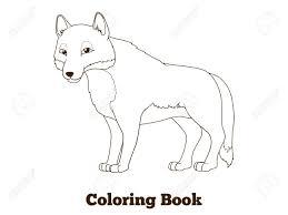 Libro De Colorante De Los Animales Del Bosque Historieta Del Lobo