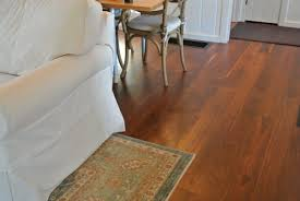 Another view of finished flooring under dining room table
