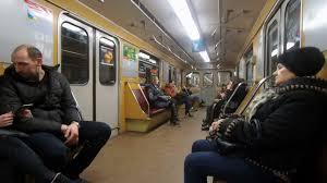 people inside subway train. Exellent Subway KIEV UKRAINE  FEBRUARY 2018 People Inside Metro Train Wagon At Subway  Station Stock Video Footage Videoblocks And Inside Subway Train L