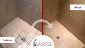 before and after picture of a bathroom tile and grout cleaning in nolensville tn