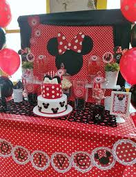 red and black minnie mouse birthday party see more party ideas at catchmyparty com