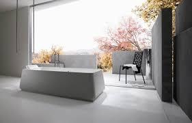 Japanese Bathroom Design Bathroom White Freestanding Bathtub Stainless Faucet Faucet