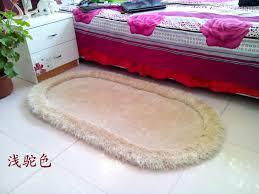 Teppich Teppiche Oval Multi Farbe Dicken Bett Strecke Vor