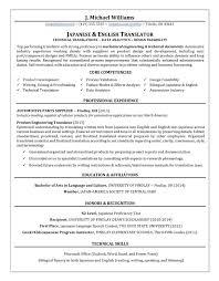 Top Resume Unique Translator Resume Writing Example Success Story TopResume