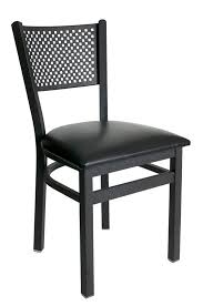 armless metal dining chairs. metal perforated back commercial dining chair armless chairs ,