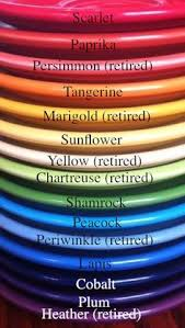 Fiestaware Colors By Year Fiesta Color Chart For Shop