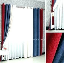 White And Blue Curtains Bedroom Boys In Striped – Chann