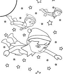 Elf Printable Coloring Pages Elf On The Shelf Coloring Page