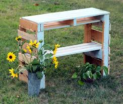 diy pallet potting bench apieceofrainbowblog 3