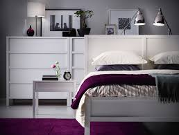modern white wooden furniture set for contemporary small bedroom