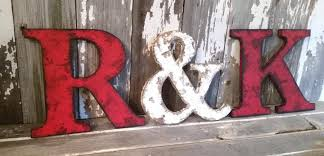 Small Picture Rustic Letter 95 Tall Name Personalize Ampersand Cottage Country