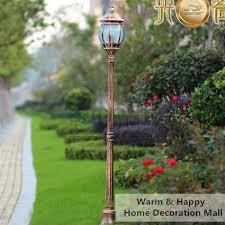garden lamp post. High Pole Outdoor Lighting Garden Light Post Vintage Street Lamp Spot Exterieur Led Jardin Aluminum Made Bronze Color H1.8M-in Landscape