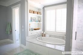 Master Bathroom Shelves/Tub