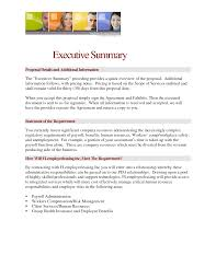 Executive Summary Layout Business Plan Executive Summary Sample Pdf Company Examples Outline 19