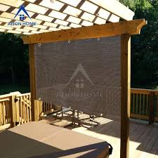 patio awning side panels custom sized sun block shade panel 2 sides hemmed with grommets patio