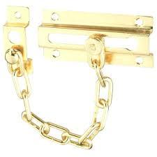 Chain Locks Door Brass Plated Steel Chain Door Guard Chain Door