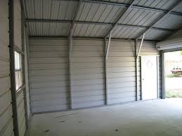 steel garage interior 20x20 metal garage inside