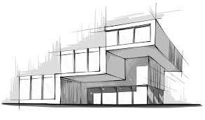 simple architectural sketches.  Architectural Modern House Architecture Sketch  Decorations For Simple Architectural Sketches D