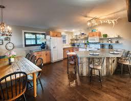antler chandeliers kitchen